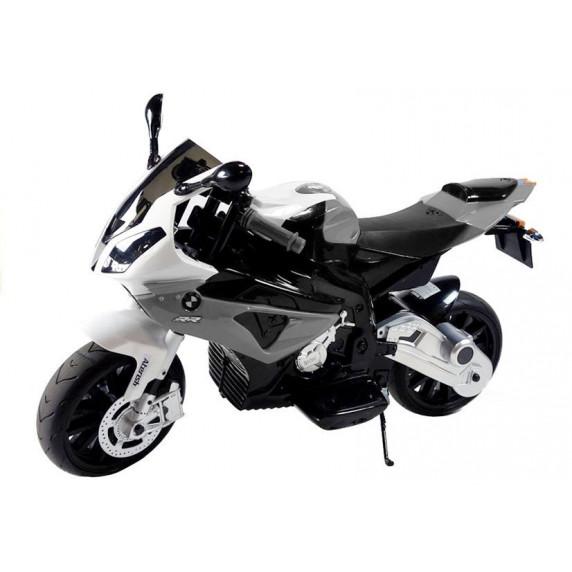 BMW S1000 RR Detská elektrická motorka - sivá