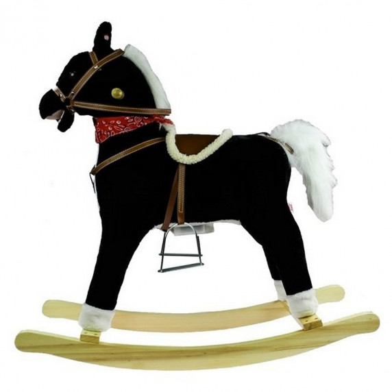 Inlea4Fun Hojdací koník - čierny