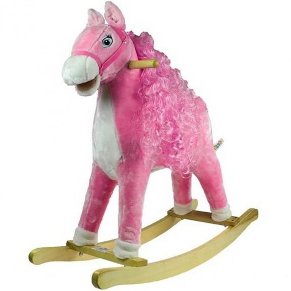 Inlea4Fun Hojdací koník Princess - ružový