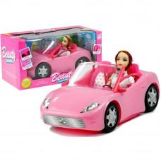 Inlea4Fun BEAUTY Ružové autíčko kabriolet s bábikou Preview