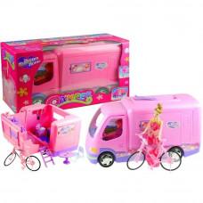 Inlea4Fun MY DREAM HOME Ružový karavan s bicyklom Preview