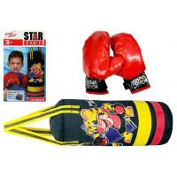 Súprava na boxovanie pre deti 36 cm Inlea4Fun STAR BOXING