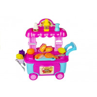 Inlea4Fun FOOD CART Vozík s rýchlym občerstvením a doplnkami