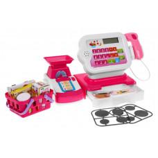 Detská pokladňa s nákupným košíkom - ružová/biela Inlea4Fun CASH REGISTER Preview