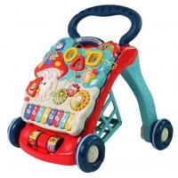 Inlea4Fun BABY WALKER Detské edukačné chodítko - Modré/červené