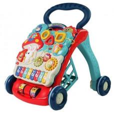 Inlea4Fun BABY WALKER Detské edukačné chodítko - Modré/červené Preview