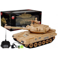 Inlea4Fun RC COMBAT ZONE Tank na diaľkové ovládanie 1:28 - krémový