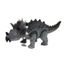 Inlea4Fun Dinosaurus figúrka na batérie - Triceratops sivý Preview