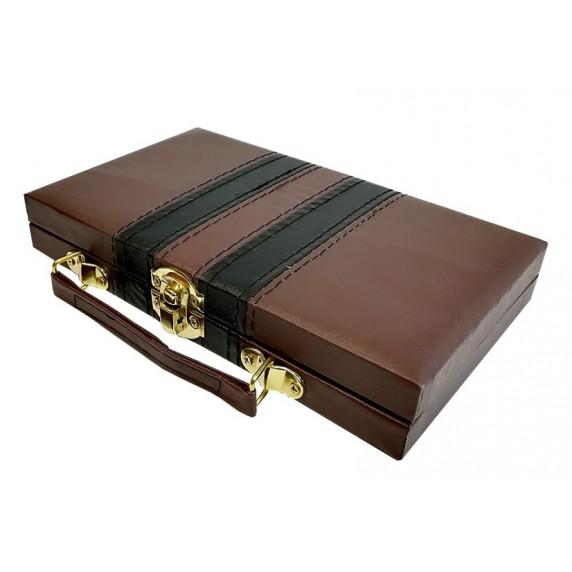 Inlea4Fun DOMINOS Spoločenská hra Domino v kufríku