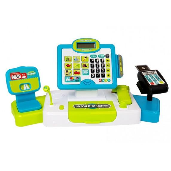 Detská pokladňa Inlea4Fun CASH REGISTER  - zelená/modrá