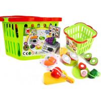 Nákupný košík so zeleninou na krájanie a váhou Inlea4Fun LIMA No.686