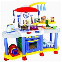Inlea4Fun FUNNY KITCHENSET Interaktívna kuchynka - modrá