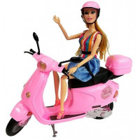 Ružový kabriolet s bábikou FASHION MOTORCYCLE Inlea4Fun