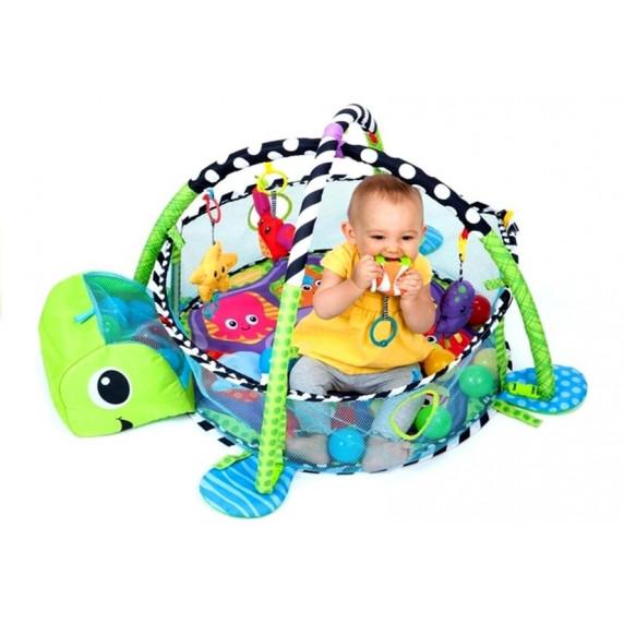 Konig Kids TURTLE Hracia deka 3 v 1 - korytnačka