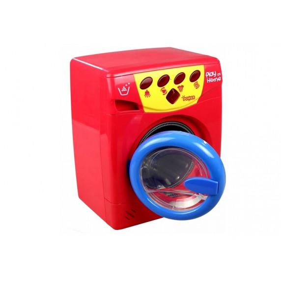 Inlea4Fun PLAY AT HOME Detská práčka - cervena