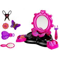 Kozmetické zrkadlo ružovo - čierne Inlea4Fun DRESSING TABLE  Preview