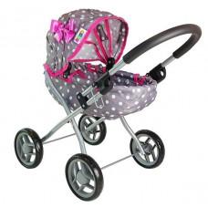 Detský kočík pre bábiky ALICA BUGGY sivo-ružový Preview