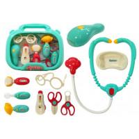 Lekársky set v kufríku Inlea4Fun DOCTOR - tyrkysový