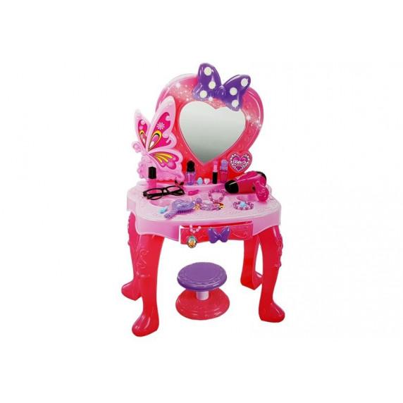 Detský toaletný stolík so zrkadlom Inlea4Fun LITTLE PRINCESS V95808