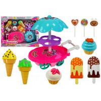 Vozík so sladkosťami a zmrzlinou Inlea4Fun SWEET TREATS
