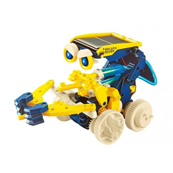 Inlea4Fun BUILD AND LEARN Solárny robot 11 v 1 - žltý