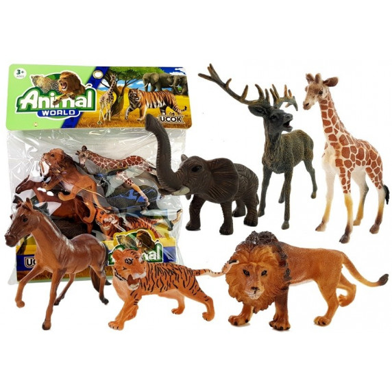 Figúrky - divoké zvieratá 6 ks Inlea4Fun ANIMAL WORLD Savannah