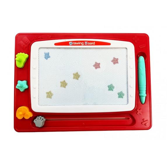 Magnetická tabuľa Inlea4Fun WONDERFUL MAGIC NO.628-90A - červená