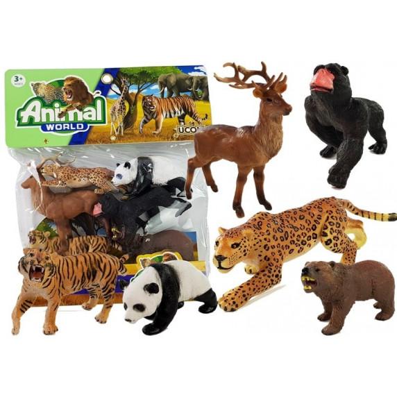Sada zvieratiek - 6 ks Inlea4Fun ANIMAL WORLD