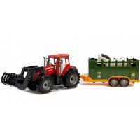 Inlea4Fun FARM TRAKTOR Detský traktor s vlečkou a koňom