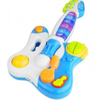 Interaktívna gitara s klavírom Inlea4Fun DINAMIC - modrá