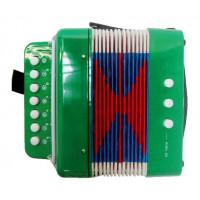 Inlea4Fun Detská harmonika - zelená