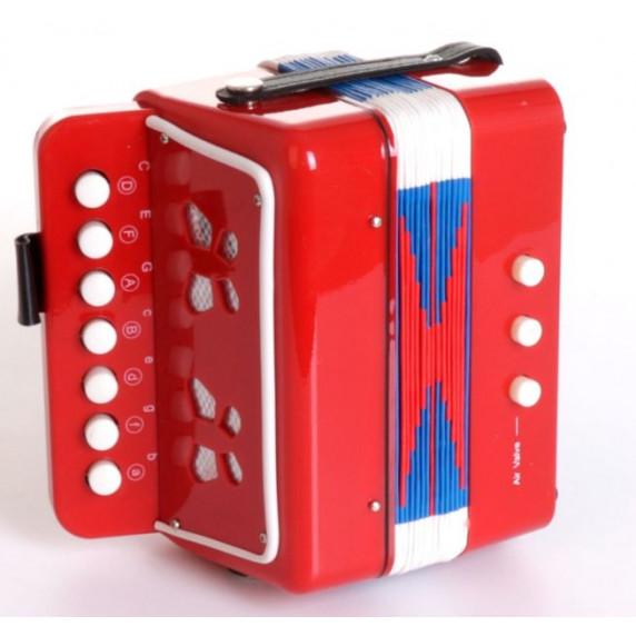 Inlea4Fun Detská harmonika - červená