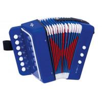 Inlea4Fun Detská harmonika - modrá