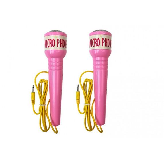 Karaoke mikrofón so stojanom Inlea4Fun MIKRO PHONE - ružový
