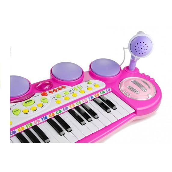 Detské elektronické klávesy Inlea4Fun LET THE CHILD - ružové