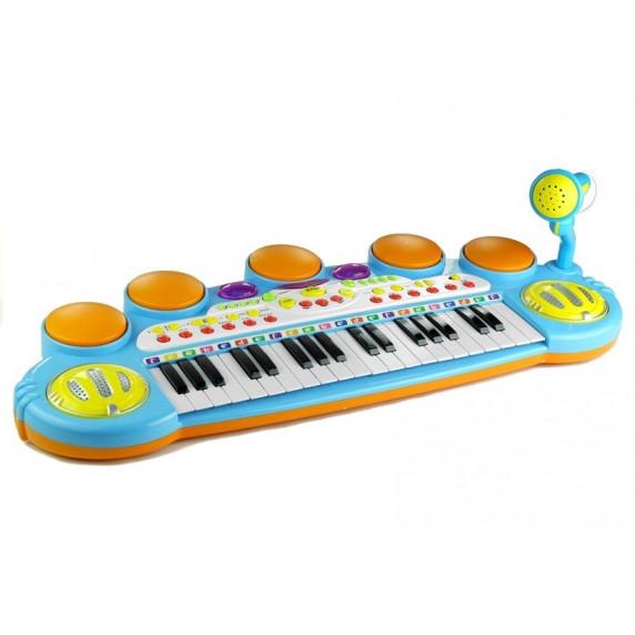 Detské elektronické klávesy Inlea4Fun LET THE CHILD - modré