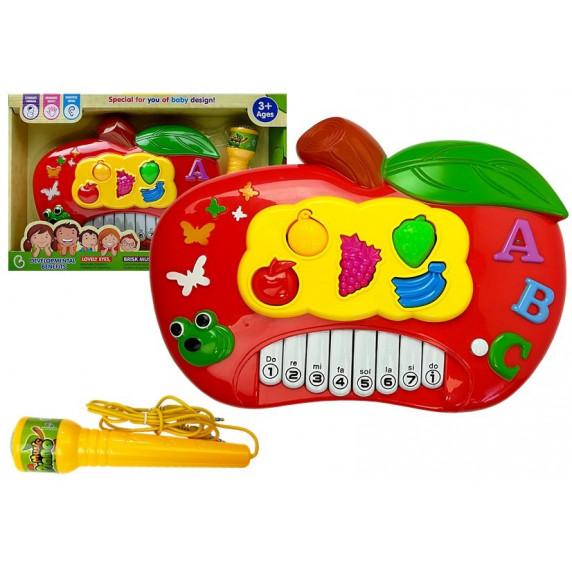 Detské elektronické klávesy Inlea4Fun MUSIC PIANO - Jablko