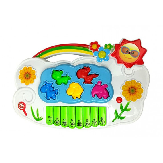 Detské elektronické klávesy Inlea4Fun MUSIC PIANO - Kvety