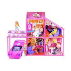 Inlea4Fun Domček pre bábiky s autíčkom MY LOVELY VILLA Preview