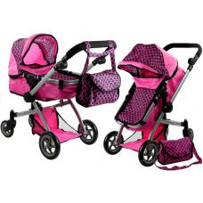Kočík pre bábiky ALICA hlboký/športový 2v1 ružový Preview