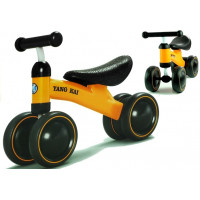 Detské odrážadlo - motorka Inlea4Fun Yang Kai - žlté