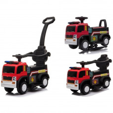 Inlea4Fun Hasiči JC008 detské odrážadlo a elektrické autíčko 3v1 - červené Preview
