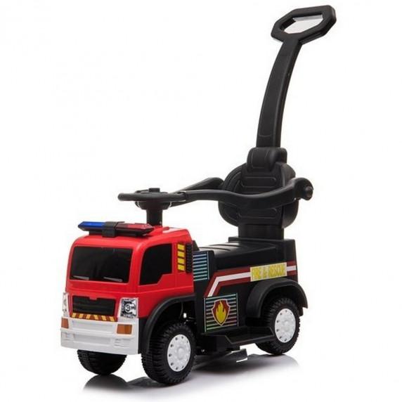 Inlea4Fun Hasiči JC008 detské odrážadlo a elektrické autíčko 3v1 - červené