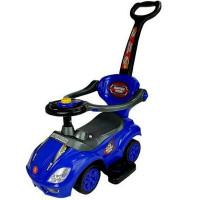 Inlea4Fun Detské odrážadlo Super Ride 3 v 1 - modré