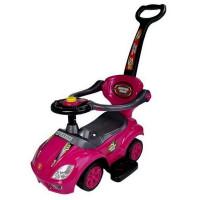 Inlea4Fun Detské odrážadlo Super Ride 3 v 1 - ružové