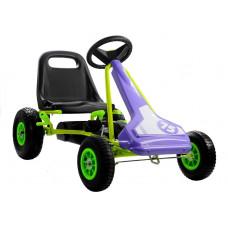 Inlea4Fun SPEED 75 Gokart s pedálmi - fialový / zelený Preview