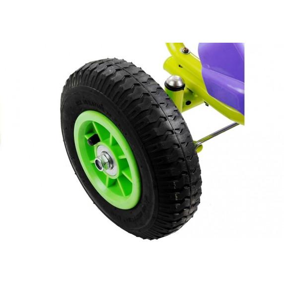 Inlea4Fun SPEED 75 Gokart s pedálmi - fialový / zelený