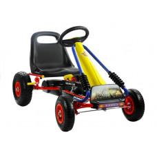 Inlea4Fun TURBO Racing Car Gokart s pedálmi - žltý / červený Preview