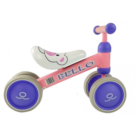 Inlea4Fun Detské odrážadlo BELLO - ružové