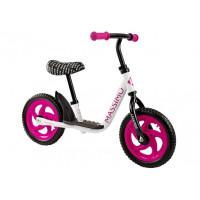 Detské cykloodrážadlo Inlea4Fun MASSIMO - bielo-ružové